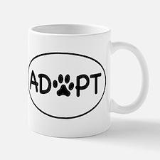 Adopt White Oval Small Small Mug