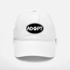Adopt Black Oval Baseball Baseball Cap