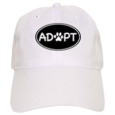 Adopt Black Oval Baseball Cap