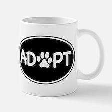 Adopt Black Oval Small Small Mug