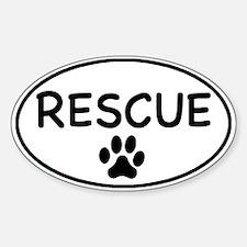 Rescue White Oval Oval Bumper Stickers