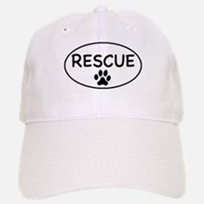 Rescue White Oval Baseball Baseball Cap