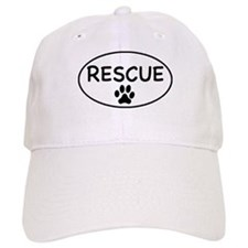 Rescue White Oval Baseball Cap