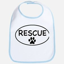 Rescue White Oval Bib