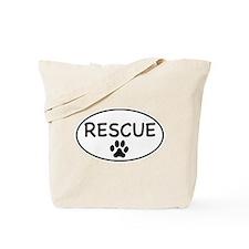 Rescue White Oval Tote Bag