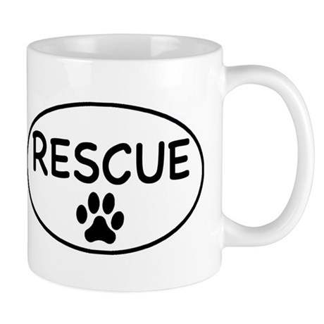 Rescue White Oval Mug