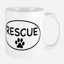 Rescue White Oval Small Small Mug