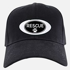 Rescue Black Oval Baseball Hat