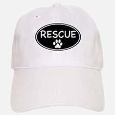 Rescue Black Oval Baseball Baseball Cap