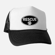 Rescue Black Oval Trucker Hat