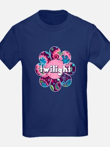 Twilight Retro Paisley Purple Flower T