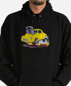 1941 Willys Yellow Car Hoodie (dark)