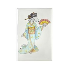Dancing Bedlies-Geisha Rectangle Magnet