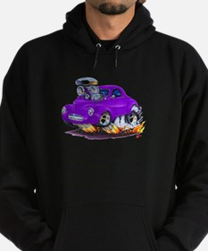 1941 Willys Purple Car Hoodie (dark)