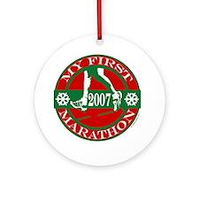 My First Marathon - 2007 Ornament (Round)