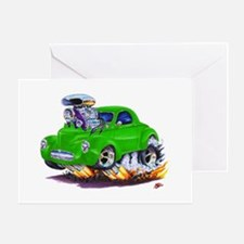 1941 Willys Green Car Greeting Card