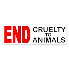 END Cruelty to Animals Bumper Bumper Bumper Sticker