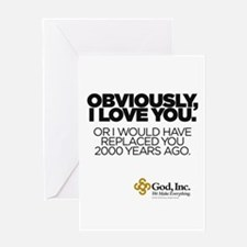 Obviously Greeting Card