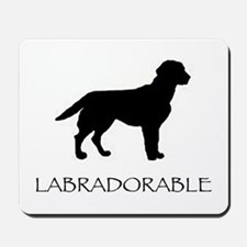 Labradorable (Black Lab) Mousepad