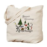 Season's Greeting Reusable Gift Tote Bag