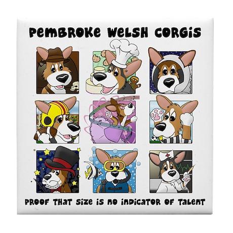 Talented Corgi Tile Coaster