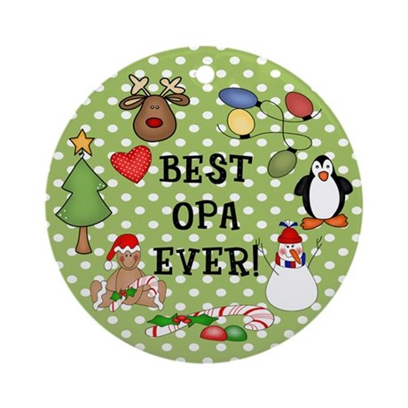 Best Opa Ever Christmas Ornament (Round)