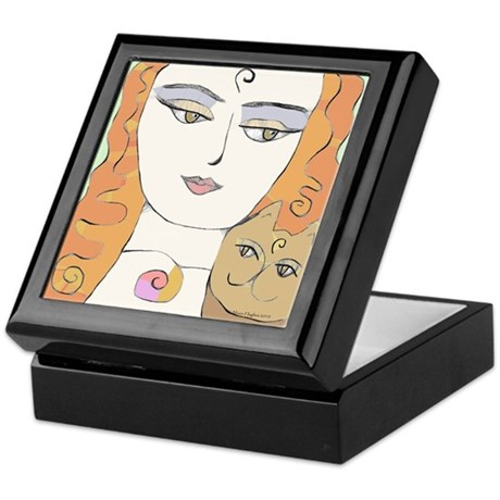 Woman's Face Keepsake Box