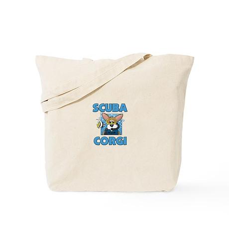 Scuba Diving Corgi Tote Bag