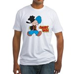 Snuffy Smith Walking Fitted T-Shirt