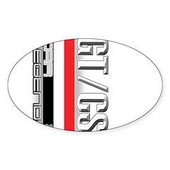 Car Grafiti Oval Sticker (10 pk)