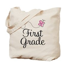 Special 1st Grade Butterfly Tote Bag