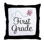 Special 1st Grade Butterfly Throw Pillow