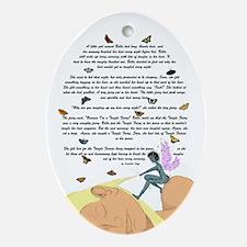 Tangle Fairies Story Oval Ornament