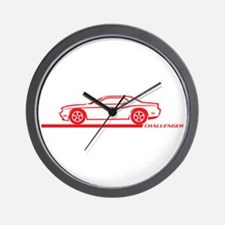 2008-10 Challenger Red Car Wall Clock