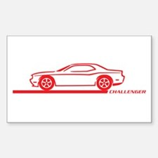 2008-10 Challenger Red Car Rectangle Decal