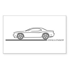 2008-10 Challenger Grey Car Rectangle Decal