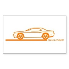 2008-10 Challenger Orange Car Rectangle Decal