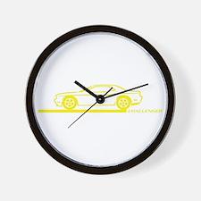 2008-10 Challenger Yellow Car Wall Clock