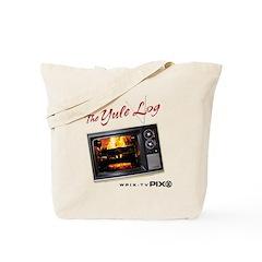 Yule Log: Analog: Tote Bag