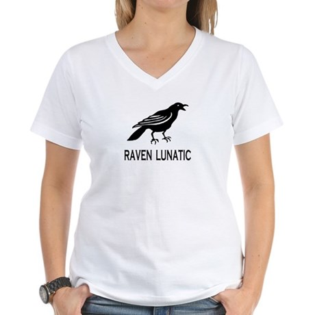CRAZY BIRD Women's V-Neck T-Shirt