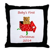 Baby's First Christmas Throw Pillow