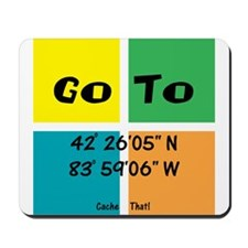 Geocaching GOTO Mousepad