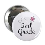 "Darling 2nd Grade 2.25"" Button"