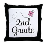 Darling 2nd Grade Throw Pillow