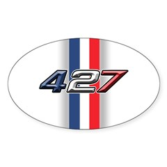 427RWB Oval Sticker (50 pk)