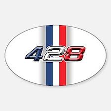 428RWB Oval Decal
