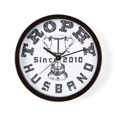 Trophy Husband Since 2010 Wall Clock