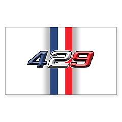 429RWB Rectangle Sticker 50 pk)