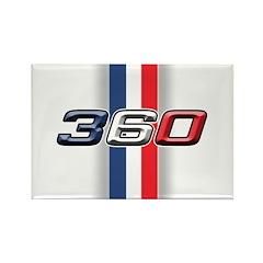 360RWB Rectangle Magnet (100 pack)