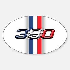 390RWB Oval Decal